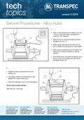 BPWT Tech Topics 22 - Service Procedures - Alloy Hubs